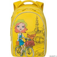 Школьный рюкзак Grizzly The girl on the bike Yellow Rg-768-1