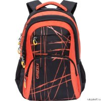 Рюкзак Grizzly Different Stripes Orange Ru-715-3