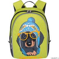 Детский рюкзак Grizzly Dog with glasses Light Green Rs-764-4