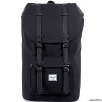 Рюкзак HERSCHEL LITTLE AMERICA BLACK/BLACK SYNTHETIC LEATHER