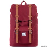 Рюкзак HERSCHEL LITTLE AMERICA MID-VOLUME WINDSOR WINE/TAN