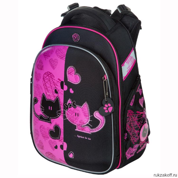 a3eba6899e44 Школьный рюкзак-ранец Hummingbird T82 Black/Pink Cats купить по цене ...