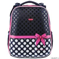 d028d7ef22a3 Школьные рюкзаки на молнии. Ранец для школы Mike&Mar Бантик (темно-синий)