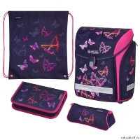 Ранец для школы Herlitz MIDI NEW PLUS Rainbow Butterfly с наполнением
