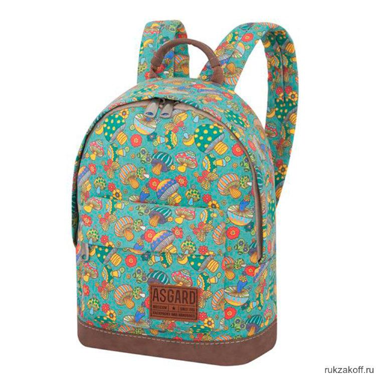 6ec3b09a3617 Детский рюкзак Asgard Грибы зеленый Р-5424 купить по цене 2 000 руб ...
