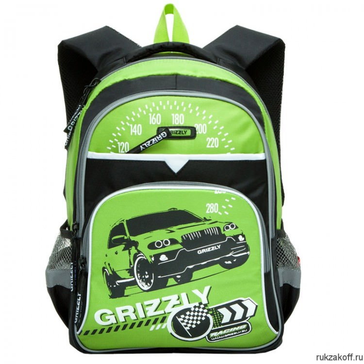 Рюкзак Grizzly Racing №2 Lime Rb-632-3