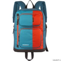 Рюкзак Grizzly Pockets Blue-Orange Ru-619-1