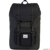 Рюкзак HERSCHEL LITTLE AMERICA MID-VOLUME Black Grid