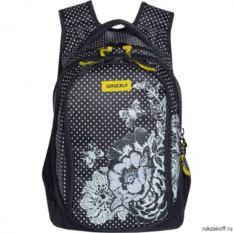 Рюкзак Grizzly Bouquet BlackYellow Rd-742-1