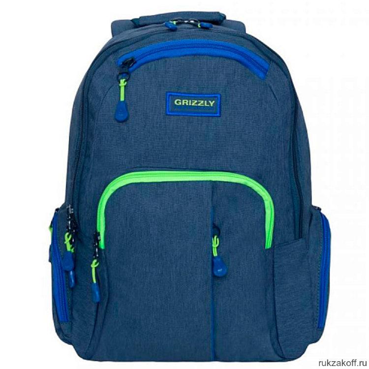 33c40a87fad0 Рюкзак Grizzly RU-807-1/3 (/3 синий) купить по цене 2 878 руб. в ...