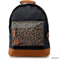 Молодежный рюкзак Mi-Pac Custom Prints Leopard Black