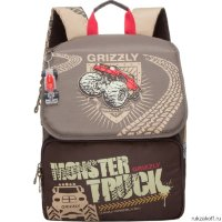 Школьный ранец Grizzly Monster Truck Brown RA-671-2