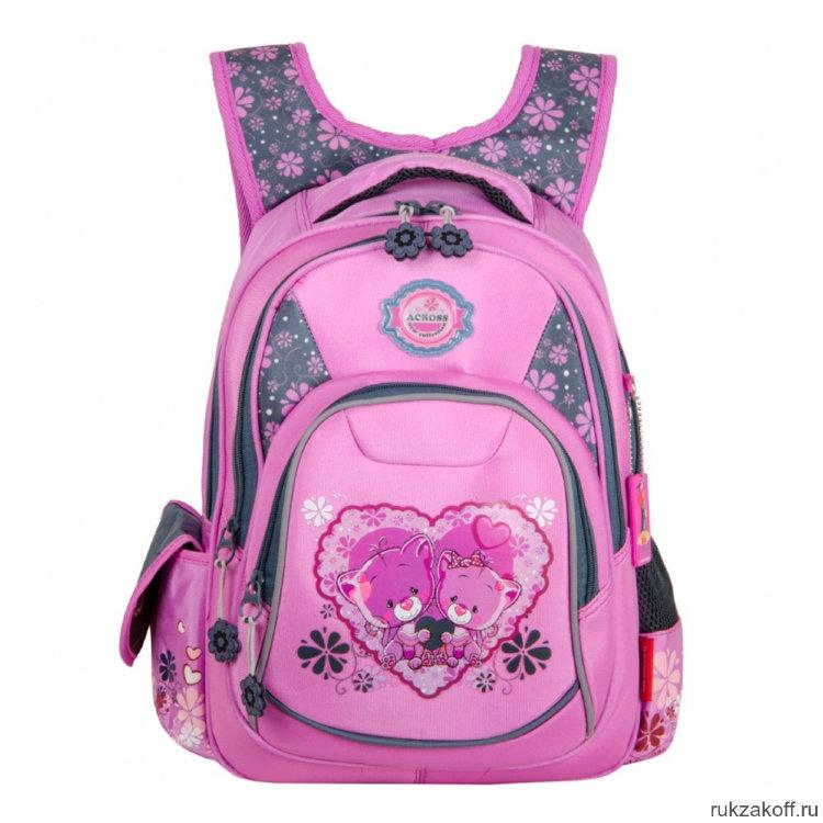 e25a69eb0c2d Школьный рюкзак Across Lovely Bears AC18-CH2-3 купить по цене 2 350 ...