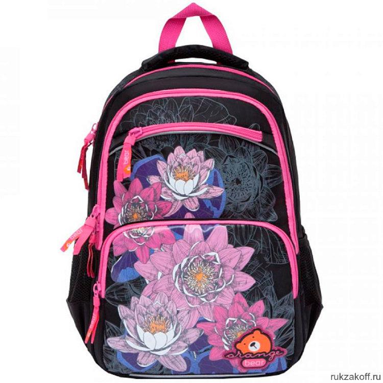 00cb6638faa1 Школьный рюкзак Orange Bear V-51 Flowers черный купить по цене 2 068 ...