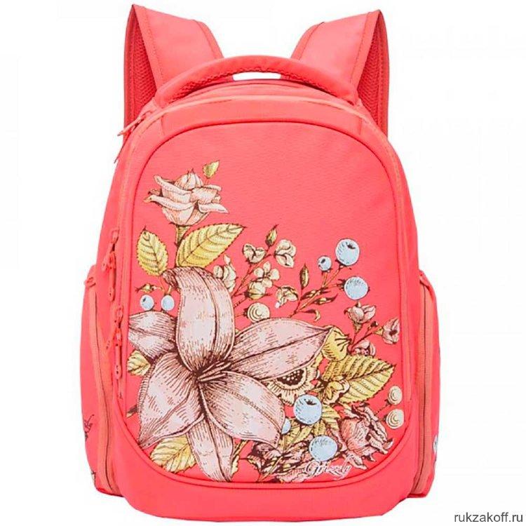 f47706c7270d Рюкзак школьный Grizzly RG-867-1 (коралловый) купить по цене 2 878 ...