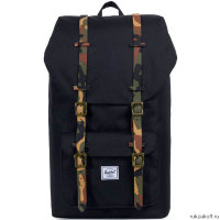 Рюкзак Herschel Little America Black/Woodland Camo Rubber