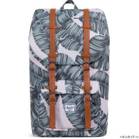 Рюкзак Herschel Little America Silver Birch Palm/Tan Synthetic Leather