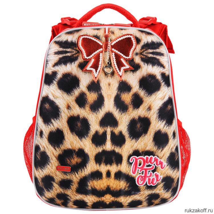 ed455ac7af62 Ранец Mike&Mar Леопард (бежевый/красный) купить по цене 4 100 руб. в ...