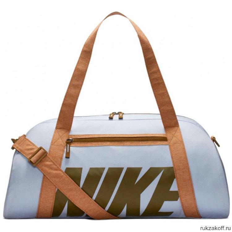fdf62a44c4a1 Сумка Women's Nike Gym Club Training Duffel Bag Нежно-голубая/Коричневая