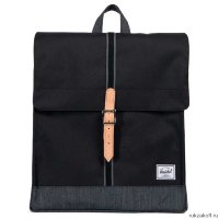 Рюкзак Herschel City Mid-Volume Black/Black Denim