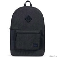 Рюкзак HERSCHEL RUSKIN Black Crosshatch/Black/White