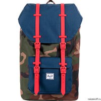 Рюкзак HERSCHEL LITTLE AMERICA Woodland Camo/Navy/Red Rubber