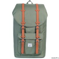 Рюкзак HERSCHEL LITTLE AMERICA  Deep Lichen Green/Tan Synthetic Leather