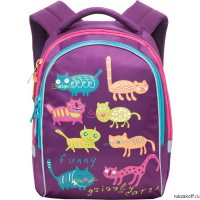 Рюкзак Grizzly Funny Cats Purple Rg-657-4