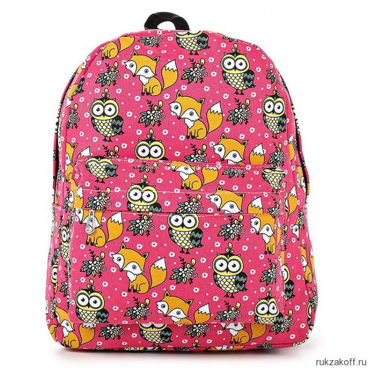 5831b8d0c2dd Рюкзак с лисами и совами Fox and Owl (ярко-розовый) купить по цене 1 ...