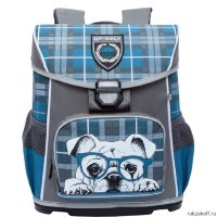 Школьный ранец Grizzly Cheesy Dog Gray-Turquoise RA-775-3