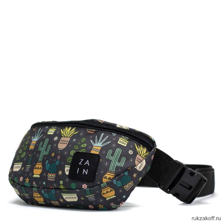 cbbd434e1d8d Поясная сумка Zain Printed с кактусами черная купить по цене 990 руб ...