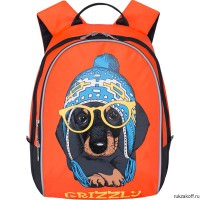 Детский рюкзак Grizzly Dog with glasses Orange Rs-764-4