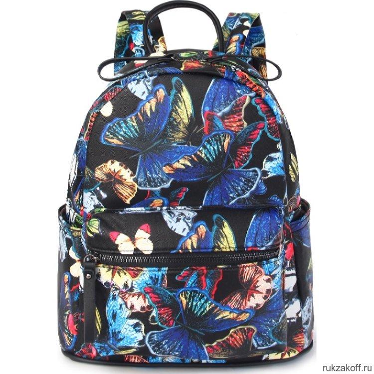 5ba738f4893f Женский кожаный рюкзак Orsoro d-460 бабочки купить по цене 3 096 руб ...