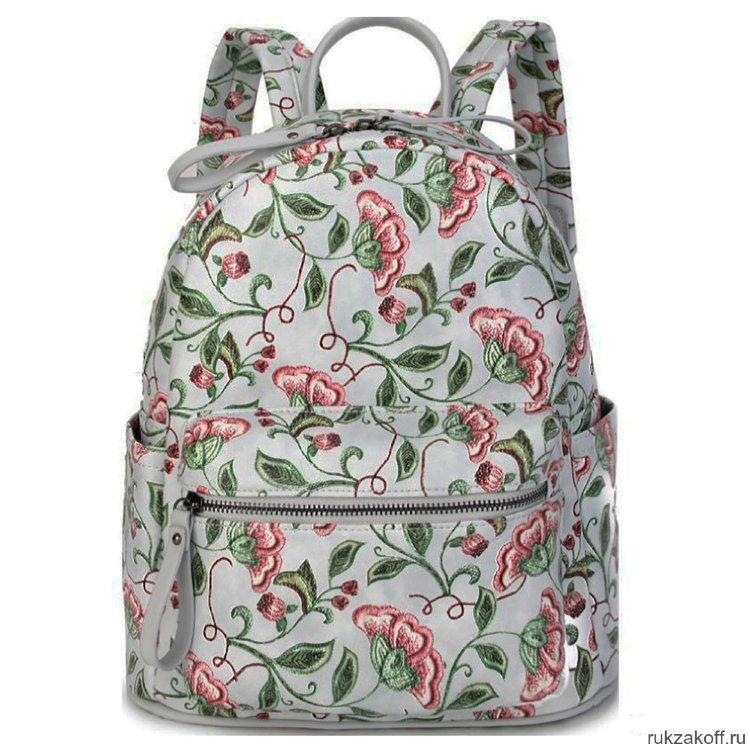 dedfc1e13ab8 Женский кожаный рюкзак Orsoro d-460 цветы-вышивка купить по цене 3 ...