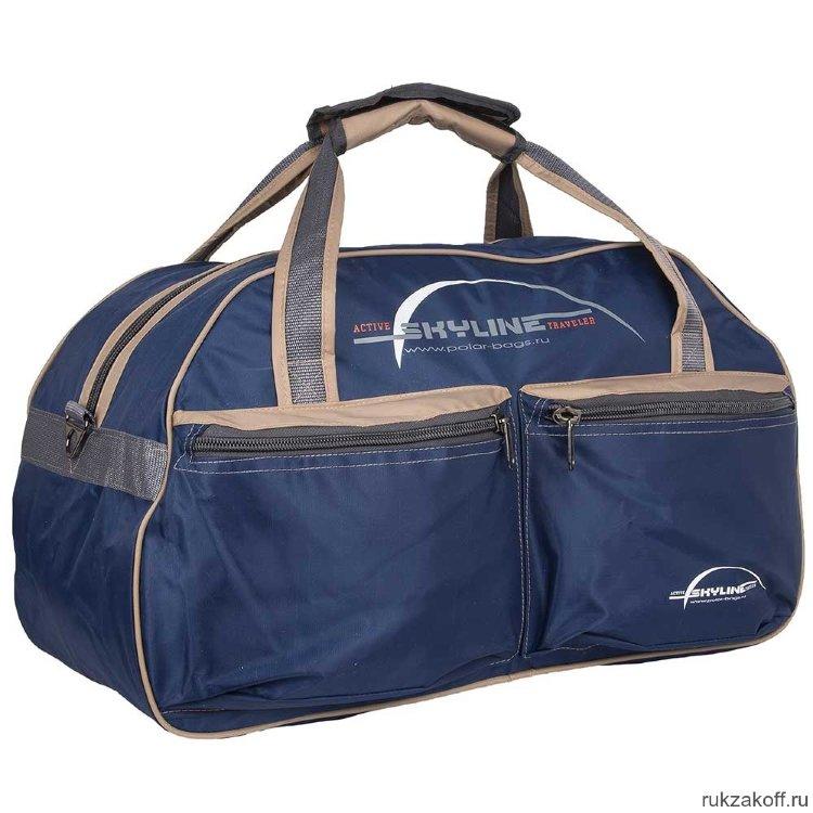 58a2103cb04d Спортивная сумка Polar П05/6 Синий (бежевый кант) купить по цене 1 ...
