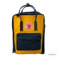 Рюкзак Fjallraven Kanken Standart Navy & Warm Yellow