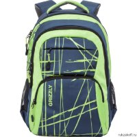 Рюкзак Grizzly Different Stripes Blue-green Ru-715-3