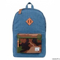 Рюкзак Herschel Heritage Navy Crosshatch/Woodland Camo/Leather
