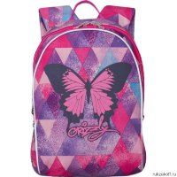 Рюкзак Grizzly Bright Butterfly Purple Rhomb Rs-764-3