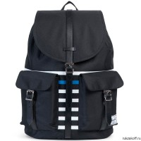 Рюкзак HERSCHEL DAWSON BLACK OFFSET STRIPE/BLACK VEGGIE TAN LEATHER