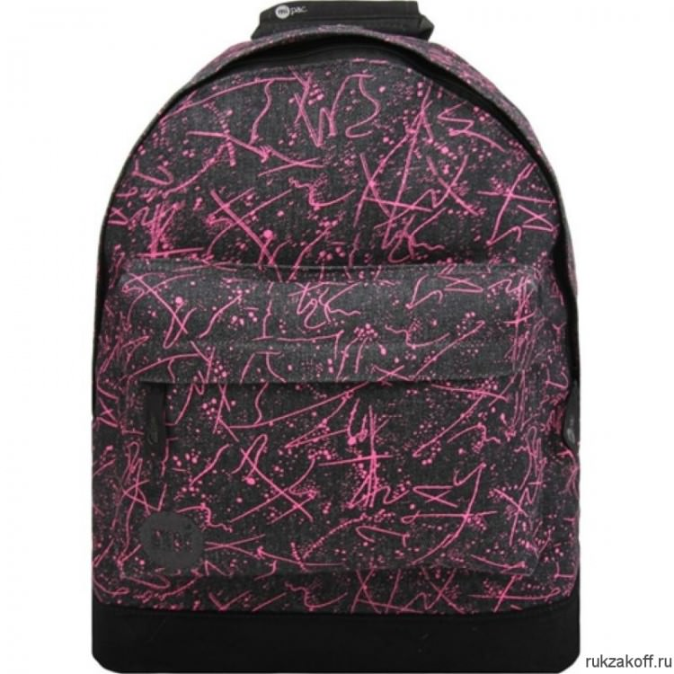 Рюкзак Mi-Pac Premium Denim Squiggle Black/Pink