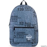 Рюкзак Herschel PACKABLE DAYPACK RAVEN CROSSHATCH SITE