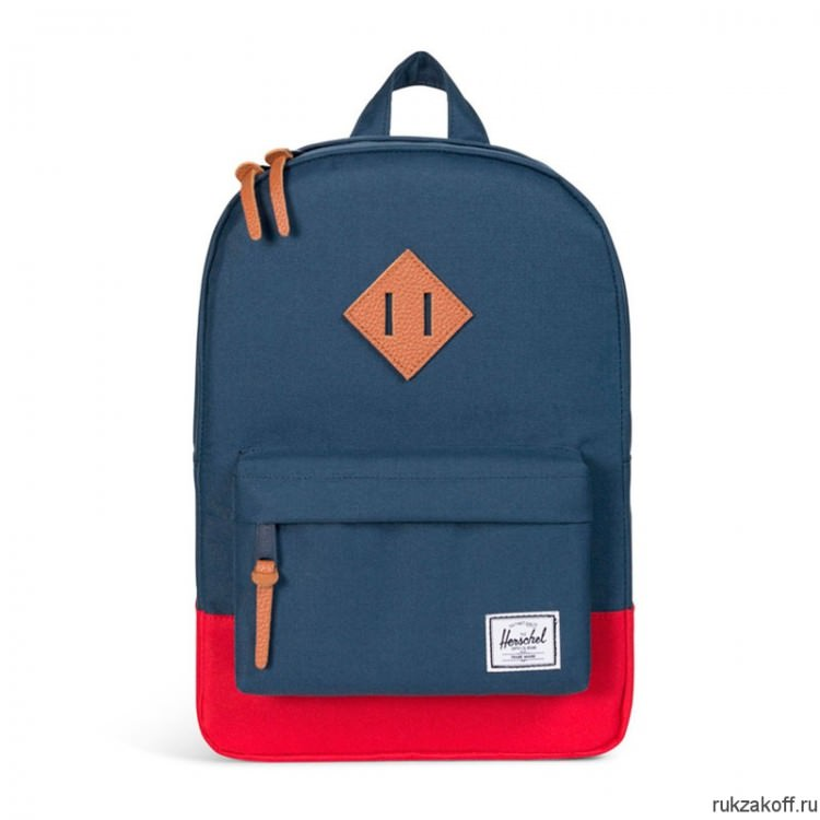 Рюкзак Herschel Heritage Kids NAVY/RED/TAN SYNTHETIC LEATHER