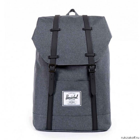 Рюкзак Herschel Retreat Charcoal Crosshatch & Black