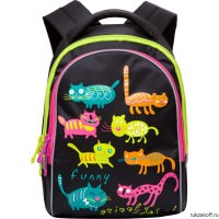 Рюкзак Grizzly Funny Cats Black Rg-657-4