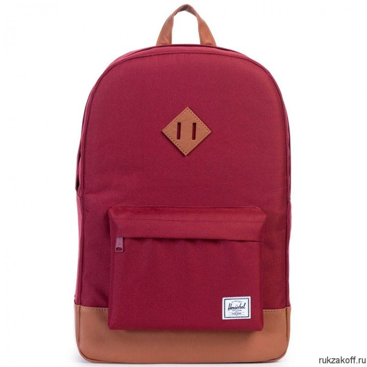 РЮКЗАК Herschel Heritage WINDSOR WINE/TAN SYNTHETIC LEATHER