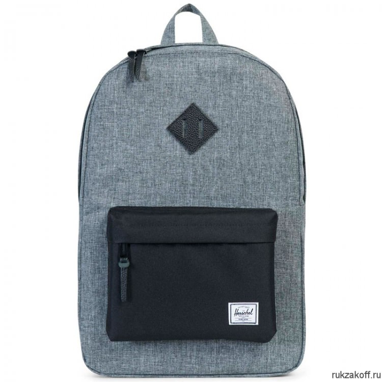 РЮКЗАК Herschel Heritage RAVEN CROSSHATCH/BLACK/BLACK PEBBLED LEATHER
