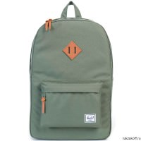 РЮКЗАК Herschel Heritage DEEP LICHEN GREEN/TAN PEBBLED LEATHER