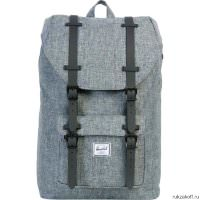 Рюкзак HERSCHEL LITTLE AMERICA MID-VOLUME Raven Crosshatch