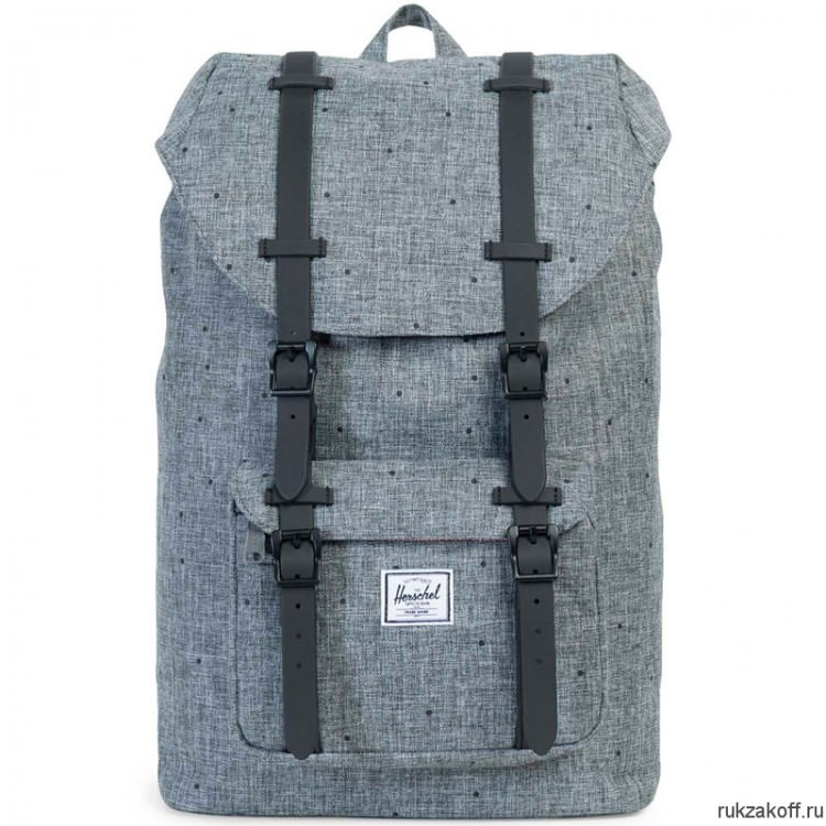 Рюкзак HERSCHEL LITTLE AMERICA RAVEN CROSSHATCH/BLACK RUBBER